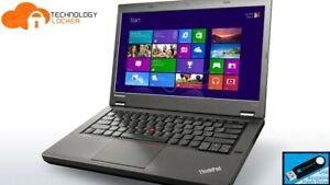 "Lenovo ThinkPad T440 14"" Laptop Intel i5-4300U @1.90GHz 8GB RAM 500GB HDD Win 10"