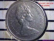 """""""ERROR"""" ROT, 20D ucw 1974 Canada 10 Cents circ DE-103"""
