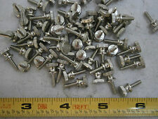 Knurled Thumb Screws 4/40 x 3/8 Brass Nickel Plated Lot of 10 #74