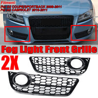 Chrome Honeycomb Fog Light Grill Grille Cover For 2008-2011 Audi A5   AU