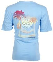 TOMMY BAHAMA Mens T-Shirt TAKE IT ONE SWAY AT A TIME Relax Fit BLUE Camp $45