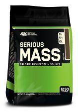 Optimum Nutrition ON Serious Mass 5.4kg Weight Gainer Gain Protein Choc Peanut