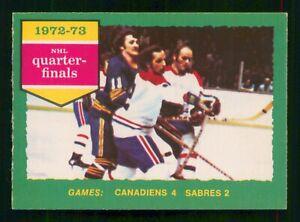 CANADIENS 4 SABRES 2 1973-74 O-PEE-CHEE 1973-74 NO 191 EX+     56488