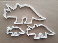 Triceratops Dinosaur Shape Cookie Cutter Dough Biscuit Pastry Fondant Sharp