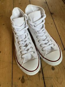 mens white converse size 8 Trainers Good Condition
