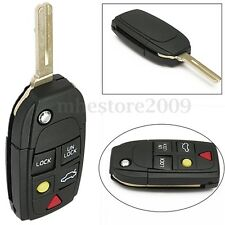 Folding Flip Remote Key FOB Shell Case for Volvo S80 S60 V70 XC70 XC90 5 Buttons