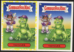 Tooth Les Yellow + Base 91a Garbage Pail Kids 35th Anniversary 2020 Topps