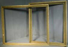 2 Victorian Aesthetic 22x26 Gilt Gesso Inner Picture Frames Eastlake 25x30 1885