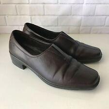 ECCO LIGHT Brown Leather Slip On Vegetable Tanned Loafer Women US 10/10.5 EU 41