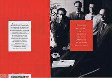 PUBLICITE ADVERTISING 105  1990  SERNAM   service colis  (2p)