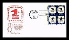DR JIM STAMPS US 7171 POSTAL SERVICE UNSEALED FDC COVER PLATE BLOCK