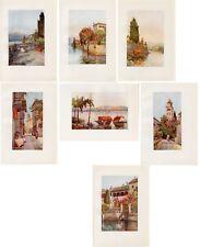 Stampe antiche SERIE 7 VEDUTE LAGO d' ORTA 1905 PREZZO SPECIALE Antique Prints