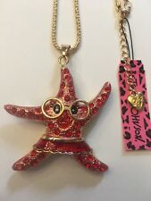 Betsey Johnson RED STARFISH W-FACE AND GLASSES necklace-BJ15115