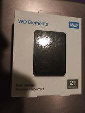 Western Digital WD Elements 2TB USB 3.0 Portable External Hard Drive - Black...