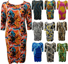 Polyester Plus Size Animal Print Dresses for Women