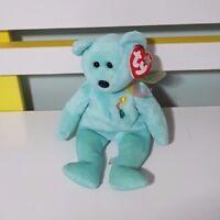 ARIEL TY BEANIE BEAR BLUE BEAR IN MEMORY SOFT TOY PLUSH TOY 21CM LONG!