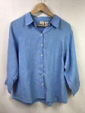 L. L. Bean Women's Linen Button Down Shirt Size XL EUC