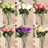 Home Rose Craft Centerpiece Silk Flowers Decor Party Wedding Bridal Gift Pleased