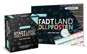 STADT LAND VOLLPFOSTEN - JUNIOR-DUO - Das Kartenspiel und der Spielblock - Junio