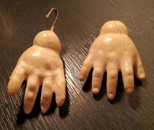 Antique German Composition Doll Hands
