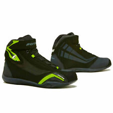 motorcycle boots | Forma Genesis urban city street riding shoe blaze ride hi vis