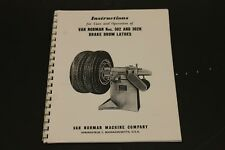 Winona Van Norman 302 Amp 302h Little Brute Brake Lathe Operating Manual Parts Id