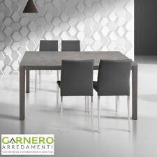 Tavolo stile metropolitano allungabile MARK 110cm metallo, legno grigio, salotto