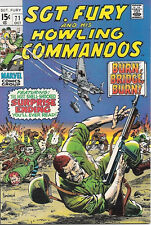 Sgt. Fury and His Howling Commandos Comic Book #71 Marvel 1969 FINE+