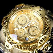 Invicta Venom Dragon Scale Swiss Chronograph Steel 52mm Gold Plated Watch New