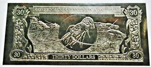 Spiny Lobster - 1981 Antigua & Barbuda $30 Gold Banknote - 23k