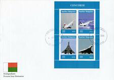 Madagascar 2019 FDC Concorde 4v M/S Cover Transport Aviation Stamps