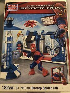 Mega Bloks 91330 Amazing Spider-Man Oscorp Spider Lab  New!  Sealed! 182pcs