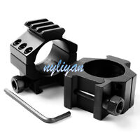 2pcs 30 mm Low Scope Ring Mount 20mm Weaver Picatinny loop Scope Mount For Rifle