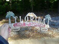 1950s Antique Auto Florida license Plate topper Vintage Chevy Ford Hot rat Rod