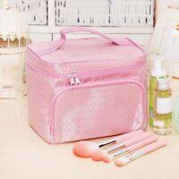 Purse Large Nylon Vanity Case Handbags Make Up Bag Travel Cosmetics Storage