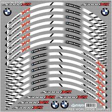 BMW S1000XR Motorcycle Wheel Decals Rim Stickers Stripes Motorrad Motorsport WOW