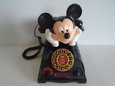 Vintage Mickey Mouse Push Dial Telephone ONLY. SHIP FAST with TRACKING NUMBER