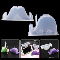 DIY Silicone Mold for Crystal Resin Phone Holder Making Jewelry Craft Flexible