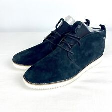 Hush Puppies Black Suede Chukka Style Boots Men's Size 11 Wide Shoes