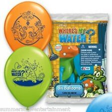 """Pioneer National Latex Wheres My Water 6 Count 12"""" Latex Balloons  Assorted"""