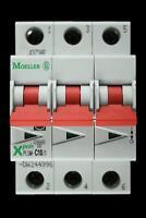 PLSM-B4//3 EATON TRIPLE POLE MCB CIRCUIT BREAKER. MOELLER XPOLE B4 4 AMP