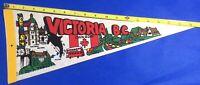 Vintage Victoria BC Canada Vintage 1970's Felt Pennant Nice Collectables