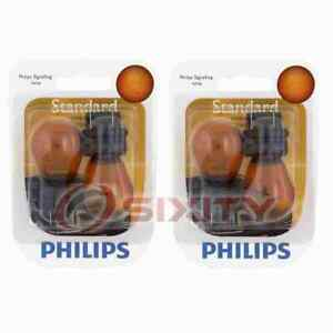 2 pc Philips Front Side Marker Light Bulbs for Freightliner Sprinter 2500 cr