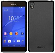 New Amzer Exclusive Pudding Matte TPU Fit Case Cover For Sony Xperia Z3 - Black