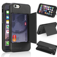 """New Armor Case Cover For iPhone 6 4.7"""" With Kick-Stand Card Slot Holder Wallet"""