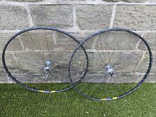 Vintage wheels pair Mavic GP4 Sprint Rims Campagnolo Veloce 8 speed Hubs.