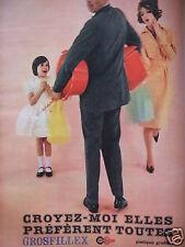 PUBLICITÉ 1960 PLASTIQUE GROSFILLEX GAMME DE 200 ARTICLES - ADVERTISING