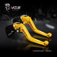 Gold CNC Short Brake Clutch Levers for Honda CBR600RR 2003-2006 CBR954RR 2002-03