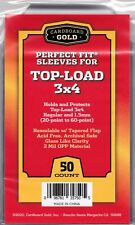 2 x 50 =100 Perfect Fit Card Sleeves for 20-55 PT Gaming Cards Clear View CBG
