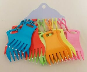12 Plastic Combs Girls Dolls Backpack Clip-Ons Stocking Stuffers Teacher Gifts